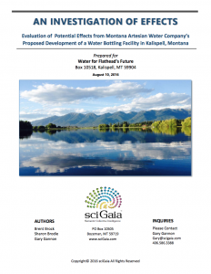 Cover to the Flathead Environmental Assessment study